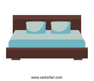 wooden double bed pillows furniture