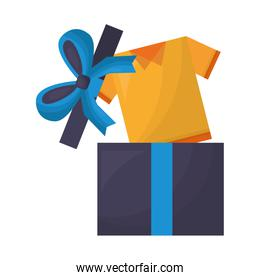 gift box with shirt and bow