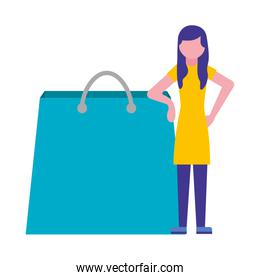 shopping bag commercial with woman