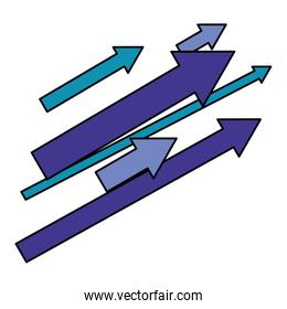 set of arrows with direction up
