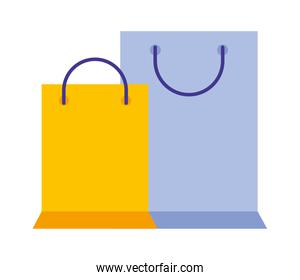 shopping bags commercial icon