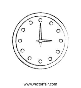 round clock time hour accessory hand drawing image