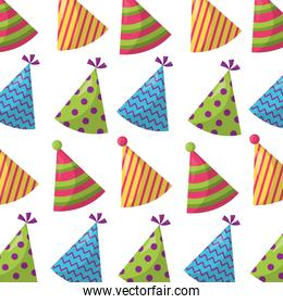 party hats decorative pattern