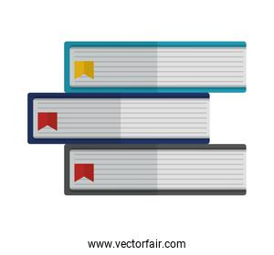 pile library books isolated icon