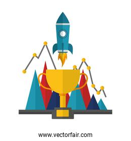 business startup trophy diagram report