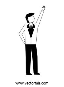 businessman avatar character in suit
