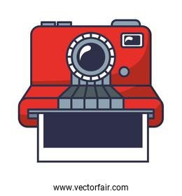 camera photographic instant isolated icon