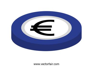 coin euro isolated icon