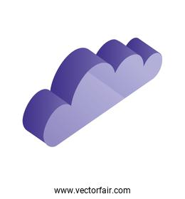 cloud isometric weather climate icon
