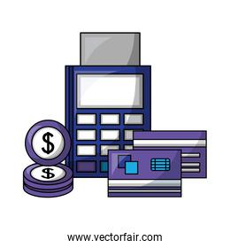 financial and economy set icons