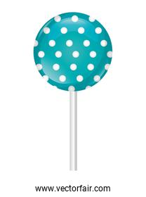 dotted sweet lollipop confectionery