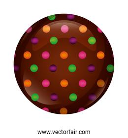 cookie of chocolate isolated icon