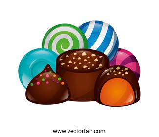 sweet candies isolated icon