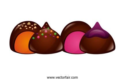 chocolate sweet bonbons candy stuffed