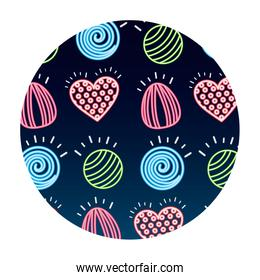 sweet candies bonbons delicious pattern
