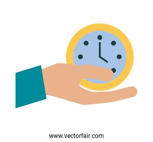 hand with time clock