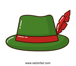 classic hat with feather fashion