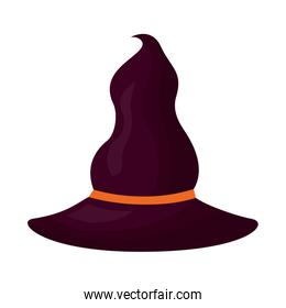 halloween witch hat isolated icon