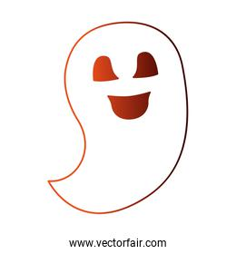 halloween ghost isolated icon