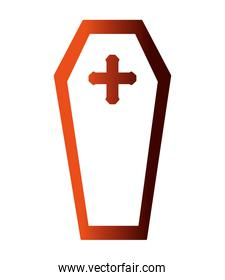 halloween coffin isolated icon