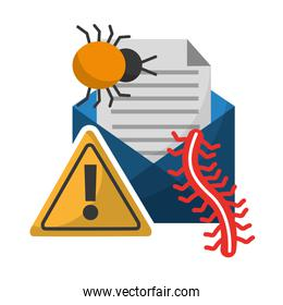 data protection email message virus bug worm alert