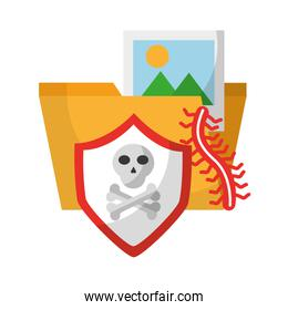 data protection shield danger file picture
