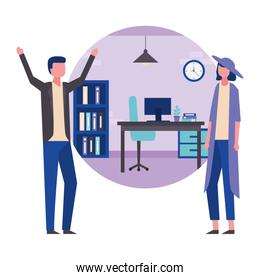 business couple in  office workspace