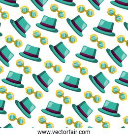 carnival festival classic hat and glasses pattern