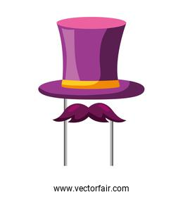 top hat mustache carnival costume party