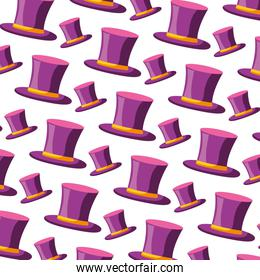top hat classic carnival party pattern