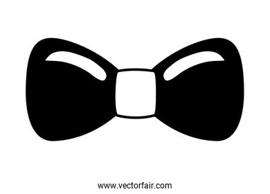elegant bowtie isolated icon