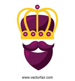 crown beard mustache mask carnival costume party