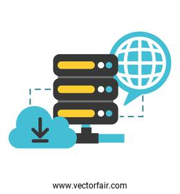 database cloud computing world connection data security