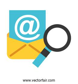 email communication magnifying glass big data security