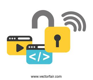 website coding internet wifi data security