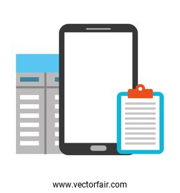 smartphone clipboard document contract business