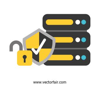 database center shield protection security fintech