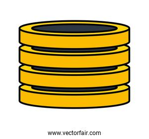 stacked coins money currency financial