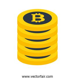stacked bitcoin cryptocurrency money trade