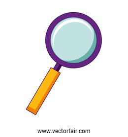 magnifying glass search isolated image