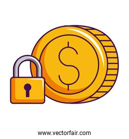 dollar coin money currency security