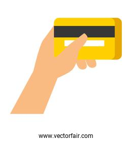 hand holding bank credit card
