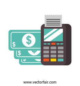 nfc payment terminal banknote money