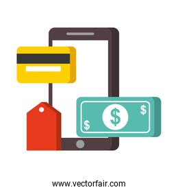 smartphone banknote credit card nfc payment