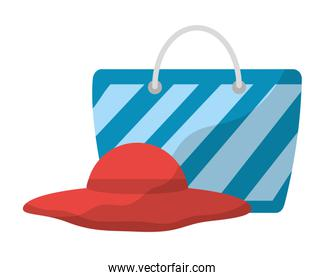 hat and bag accessorie beach vacations