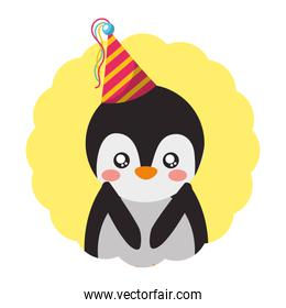 cute penguin birthday party hat