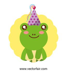 cute frog birthday party hat
