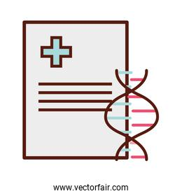 medical report document dna isolated