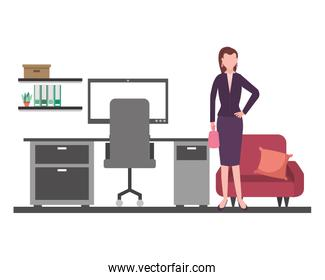 business woman in the office workspace