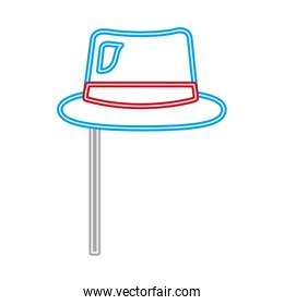 party hat carnival neon on sitck